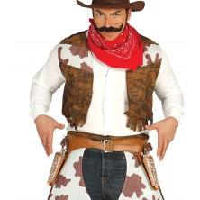 Opasok kovbojský s dvoma puzdrami a pištoľami