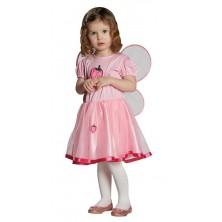 Jahodová víla - šaty s krídlami