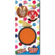 Líčidlo oranžové s aplikačnou hubkou