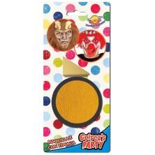 Líčidlo žlté s aplikačnou hubkou