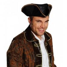 Pirátsky klobúk pre dospelých - imitácia kože