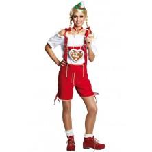 Tirolské nohavice červené dámske