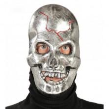 METALLIC SKULL MASK - maska kovového vzhľadu