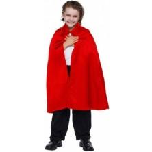 Červený plášť s golierom