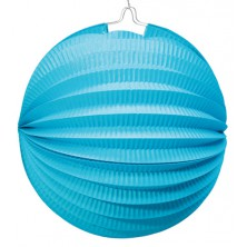 Lampión 26 cm modrý