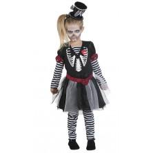 Dievčenské šaty skeleton