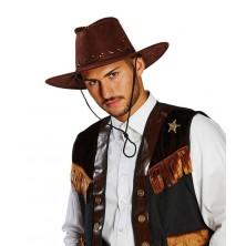 Kovbojský klobúk tmavo hnedý