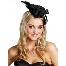 Pirátsky klobúčik Deluxe čierny