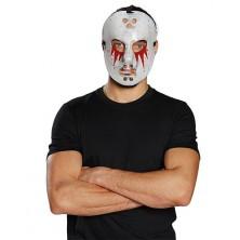 Hokejová maska zakrvaveniu