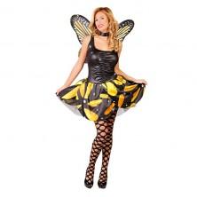 Kostým motýľ žltý veľ. 38-40