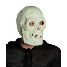 Celohlavová maska fluoreskujúce - lebka