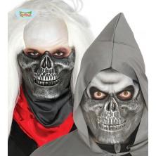 Polovičná strieborná maska Squelette