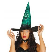 Dámsky čarodejnícky klobúk s potlačou