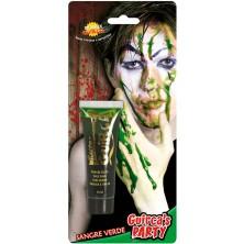 Krv v tube zelená