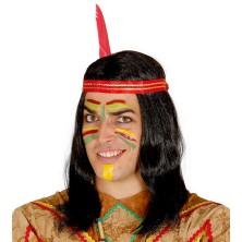 Indiánska pánska parochňa s čelenkou