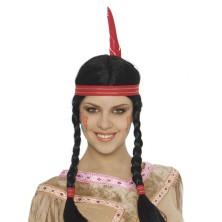Indiánska dámska parochňa s čelenkou