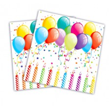 Párty ubrousky s balonky 20 ks