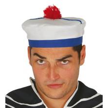 Námornícka čiapka s červeným pomponem