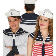 Námornícky set - čiapočka s golierom