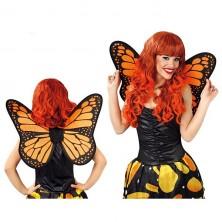 Krídla motýlie čierno-oranžová