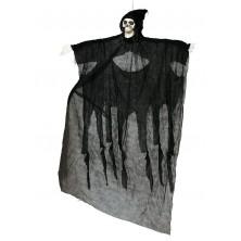 Závesné strašidlo čierne 180 cm