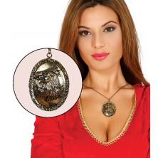 Náhrdelník VLK zlatý 5 cm