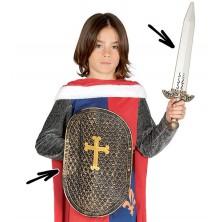 Rytiersky štít plastový s mečom