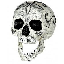 Lebka zdobená štrasovými kamienkami