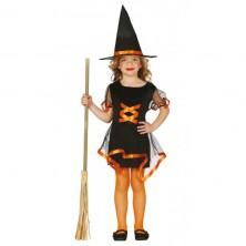 Kostým čierno-oranžová čarodejnice