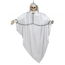 Závesné strašidlo biele s reťazou