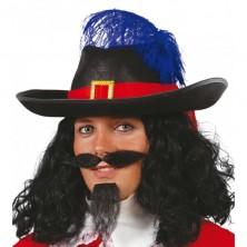 Mušketýrský klobúk pre dospelých - čierny