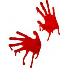 Dekorácie krvavé ruky
