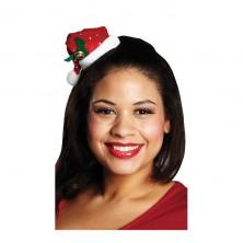 Flitrová vianočná čiapočka s vlasovou sponou