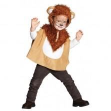 Detská pelerína s kapucňou - levíček