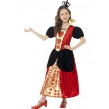 Detský kostým Srdcové kráľovnej