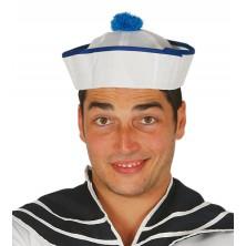 Námornícka čiapočka modrá s pomponem